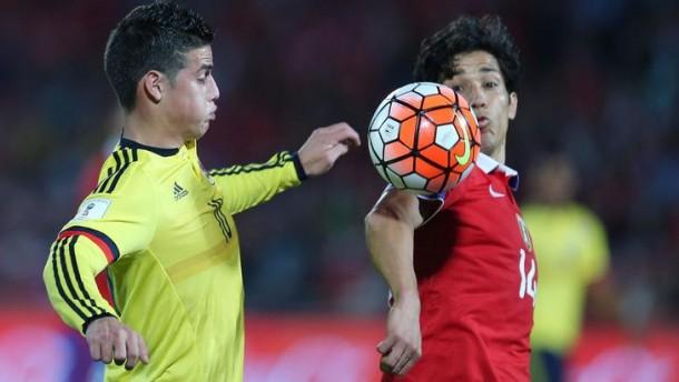 Vidal - James, Cile - Colombia termina in parità