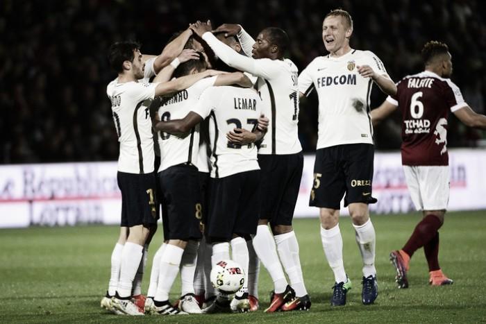 Com gols de Fabinho e Boschilia, Monaco massacra e faz sete no Metz fora de casa