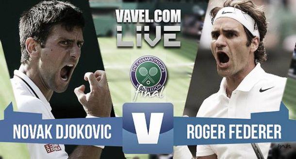 Resultado Federer - Djokovic en final Wimbledon 2015 (1-3)