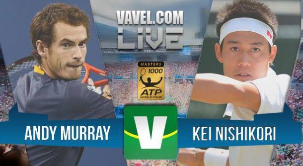 Resultado Andy Murray x Kei Nishikori na semifinal do Masters 1000 de Madri (2-0)