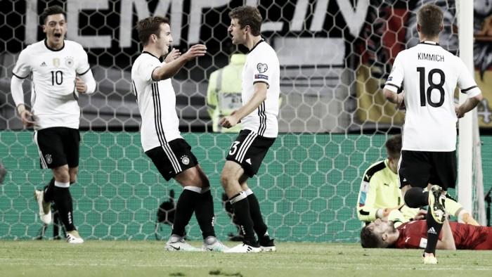 Müller marca duas vezes e Alemanha derrota República Tcheca pelas Eliminatórias