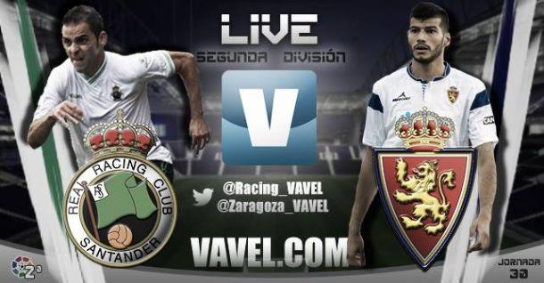 Resultado de Racing de Santander - Real Zaragoza en vivo (0-2)