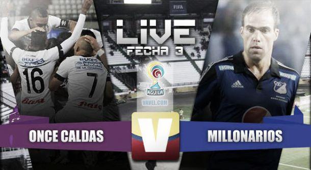 Once Caldas vs Millonarios en vivo y en directo online en la Liga Águila 2015-I