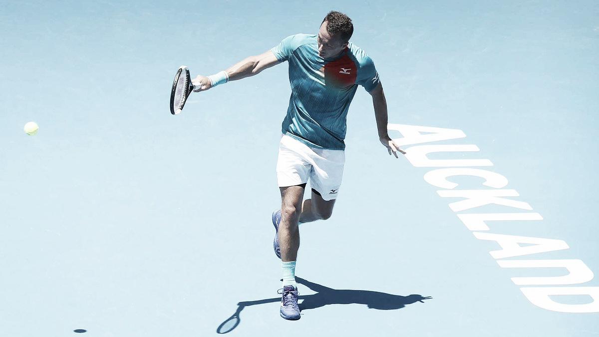 Kohlschreiber atropela Fognini e segue firme em busca do título do ATP 250 de Auckland