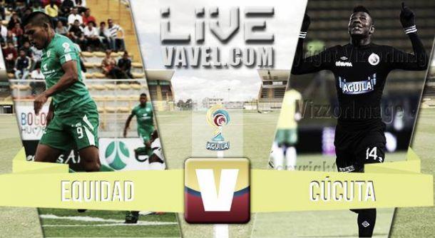 Resultado Equidad - Cúcuta en la Liga Águila 2015 (3-1)