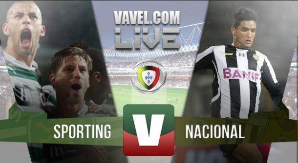 Resultado Sporting vs Nacional en la Liga Portuguesa 2015 (2-0)