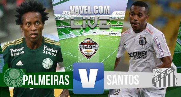 Resultado Palmeiras - Santos en la ida de la Final del Paulistao 2015 (1-0)
