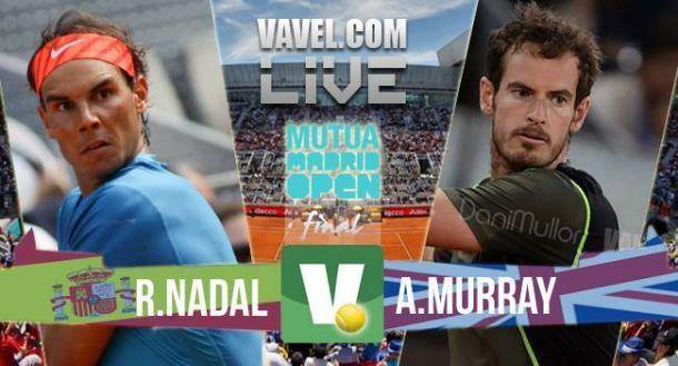 Rafael Nadal x Andy Murray na final do Masters 1000 de Madri dotênis (2-0)