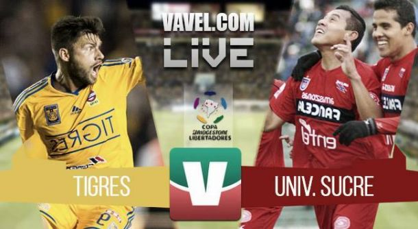 Resultado Tigres - Universitario de Sucre en la Copa Libertadores 2015 (1-1)