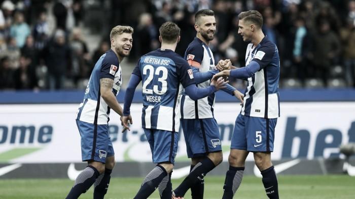 Hertha Berlin bate Colônia e assume provisoriamente vice-liderança da Bundesliga