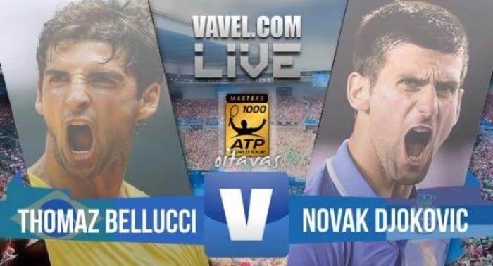 Resultado Novak Djokovic x Thomaz Bellucci pelo Masters 1000 de Roma (2-1)