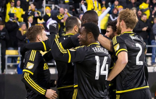 Quick Goal By Justin Meram Leads Columbus Crew Past New York Red Bulls 2-0 In Leg 1 Of Eastern Conference Finals