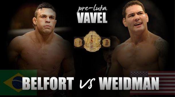 Vítor Belfort encara Chris Weidman valendo o cinturão dos médios no UFC 187