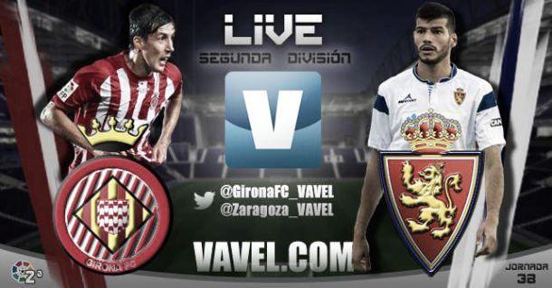 Resultado Girona F.C.- Real Zaragoza en Liga Adelante 2015 (1-1)