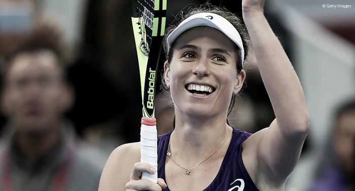 WTA Premier de Pequim: Johanna Konta desbanca Keys e fará final contra Radwanska