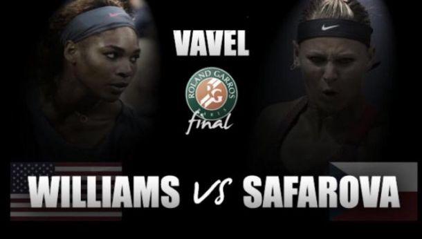 Score Serena Williams - Safarova in French Open Final 2015 (2-1)