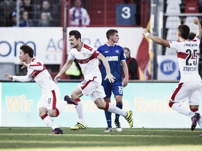 Stuttgart leva a melhor no Baden-Württembergische-Derby e bate o Karlsruher