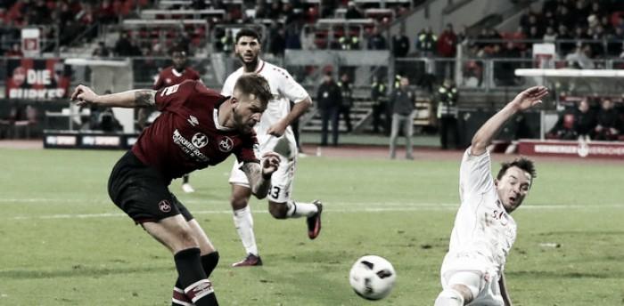 Nuremberg arranca empate no fim contra Würzburger Kickers em jogo de quatro gols