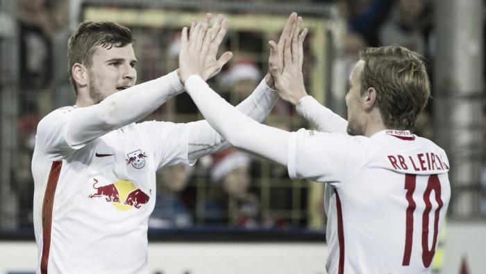 RB Leipzig bate Freiburg com dois de Werner e se consolida na liderança da Bundesliga