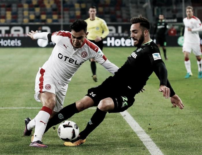 Em jogo de quatro gols, Düsseldorf e Hannover só empatam na 2. Bundesliga