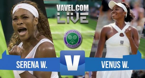 Score Serena Williams - Venus Williams In 2015 Wimbledon Fourth Round (2-0)