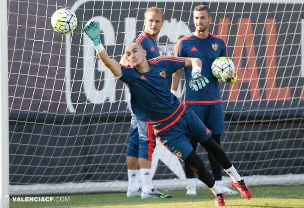 La portería del Valencia CF