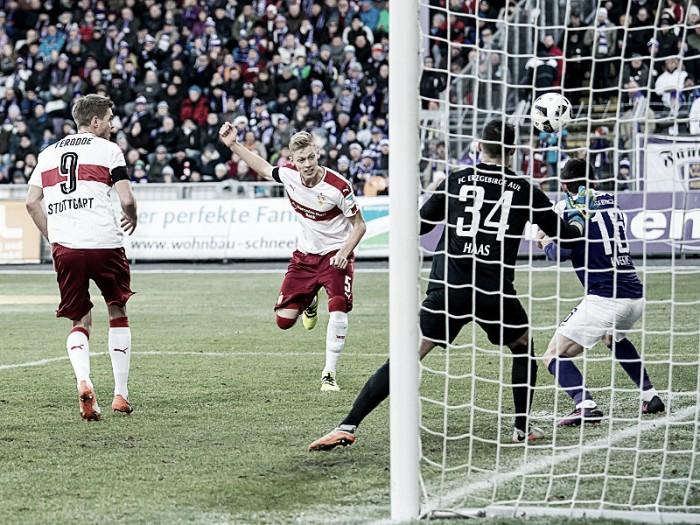 Stuttgart goleia Erzgebirge Aue fora de casa e assume liderança da 2. Bundesliga