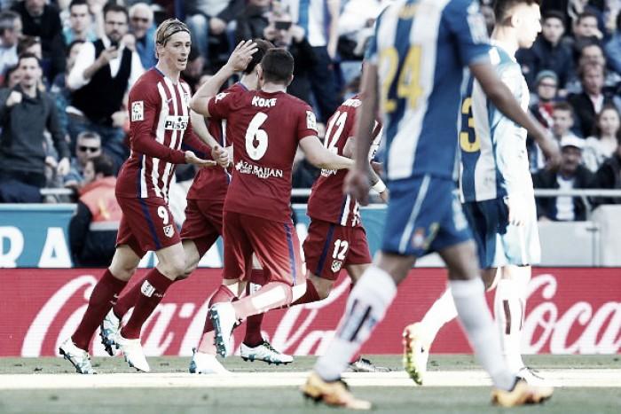 Liga, l'Atletico Madrid non molla: Espanyol battuto 3-1 a domicilio