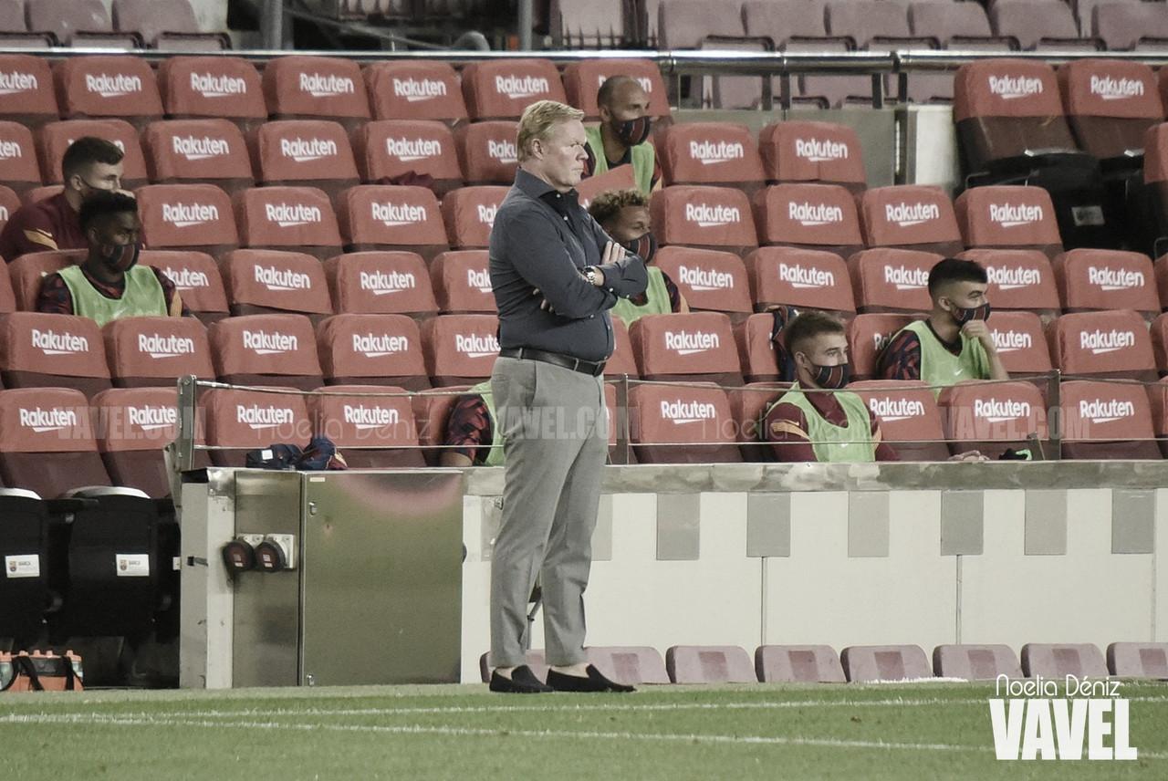 Ronald Koeman durante un partido de esta temporada / FOTO: Noelia Déniz