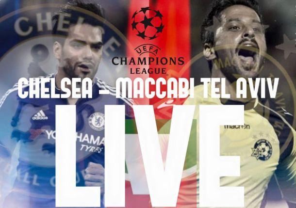 Live Chelsea - Maccabi Tel Aviv, risultato partita Champions League 2015/16 in diretta