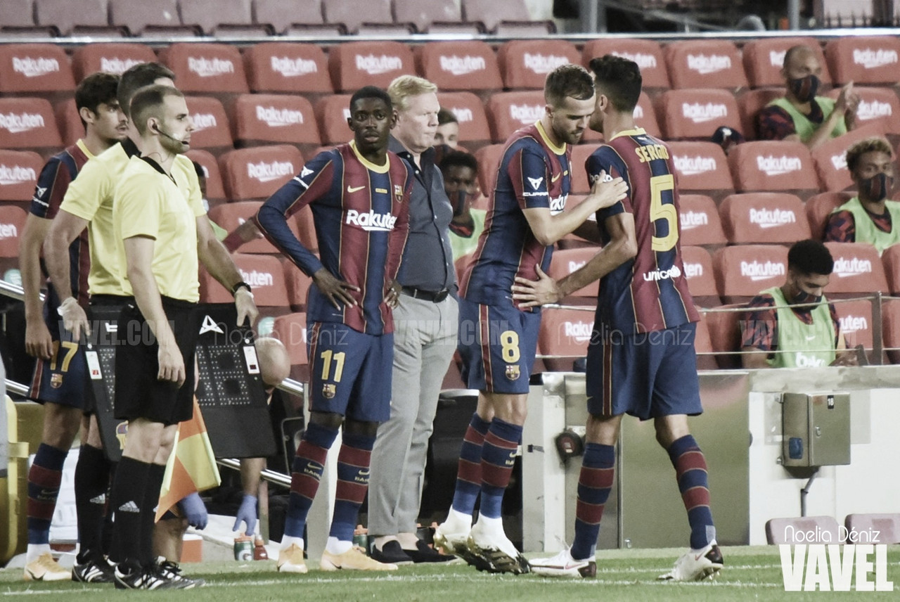 <div>Miralem Pjanić en el día de su debut como jugador del Fútbol Club Barcelona | Foto de Noelia Déniz, VAVEL<br></div>