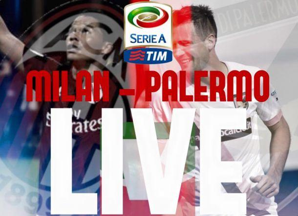 Risultato finale Milan - Palermo 3-2: Doppietta di Bacca, i rossoneri ritrovano la vittoria