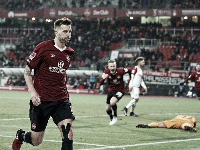 Burgstaller decide no fim e Nuremberg bate Kaiserslautern pela 2.Bundesliga
