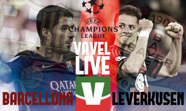 Live Barcellona - Bayer Leverkusen in risultato Champions League 2015/2016 (2-1)
