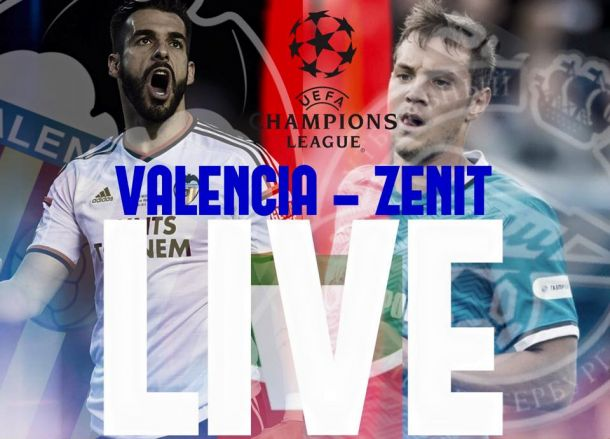Live Valencia - Zenit in Champions League 2015/2016
