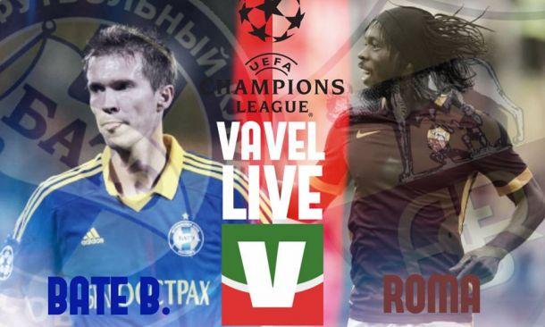 Rivivi il live di BATE Borisov - Roma, partita di Champions League (3-2)