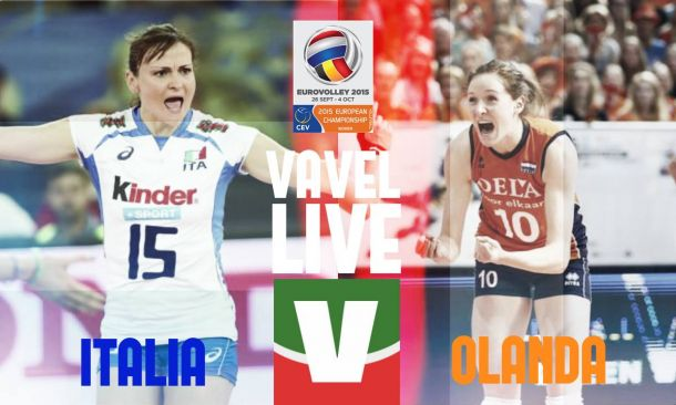 Live Olanda - Italia Volley in EuroVolley 2015