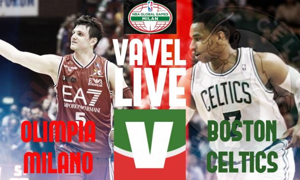 Risultato finale EA7 Milano - Boston Celtics (91-124), Nba Global Games 2015