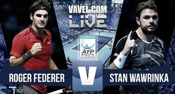 Resultado Roger Federer - Stan Wawrinka en ATP Finals 2015 (2-0): a por la reconquista del trono