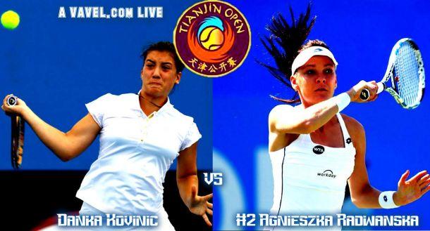 Result Danka Kovinic - Agnieszka Radwanska Of The 2015 Tianjin Open Final (0-2)