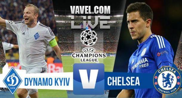 Live Dinamo Kiev - Chelsea in risultato Champions League 2015/2016 (0-0)