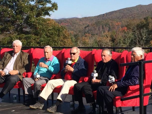 Arnold Palmer, Jack Nicklaus And Other Golf Legends Gather For Groundbreaking Of Oakhurst In West Virginia
