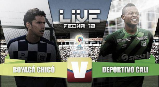 Resultado Boyacá Chicó - Deportivo Cali en Liga Águila 2015 (0-2)