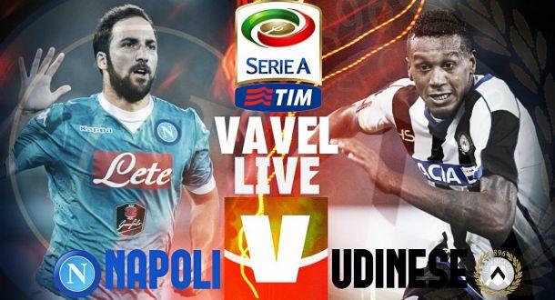 Live Napoli - Udinese in Serie A 2015/2016: decide ancora Higuain, 1-0 per i partenopei