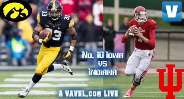 Score Iowa Hawkeyes 35-27 Indiana Hoosiers in 2015 NCAA Football