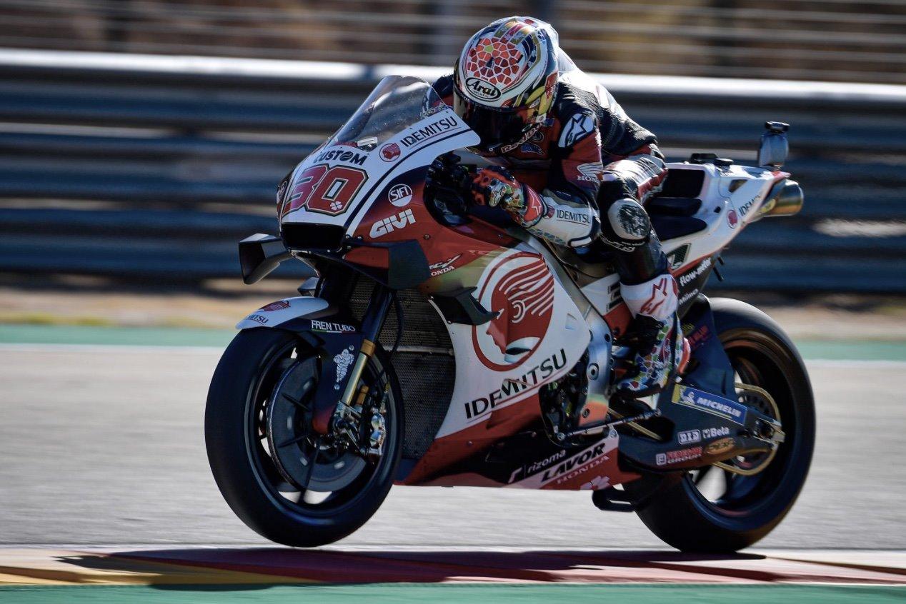 Nakagami sobre la Honda. Foto: MotoGP.com