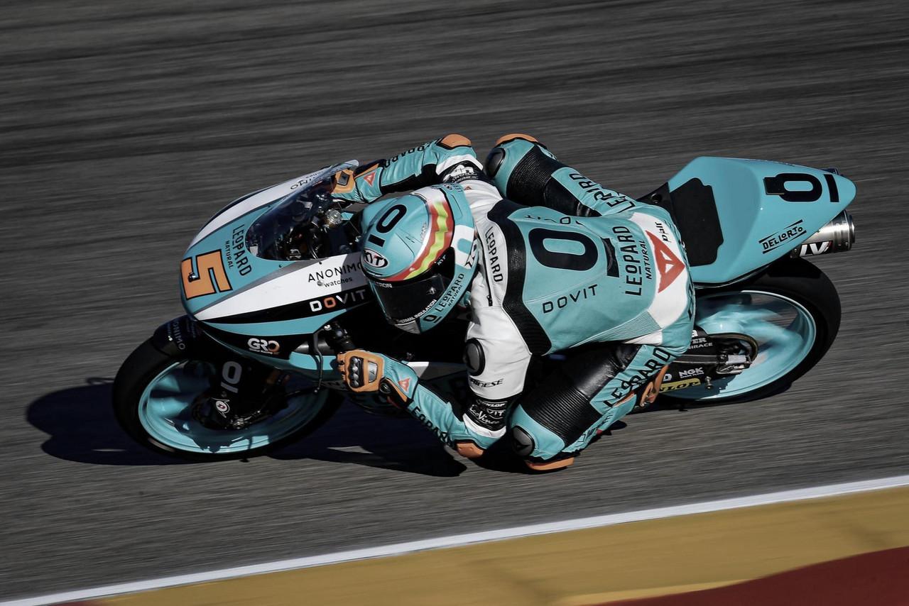Masiá en su paso por curva. Foto: MotoGP