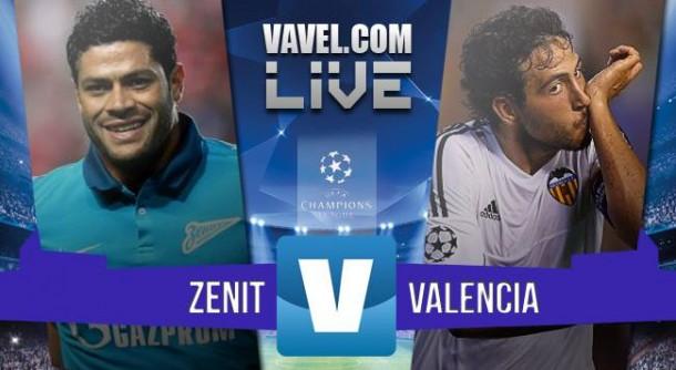 Resultado Zenit - Valencia de la Champions League 2015 (2-0)