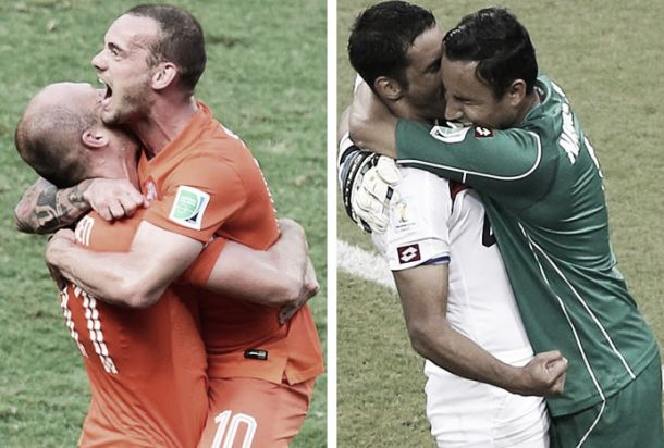 Holanda x Costa Rica: Robben contra Campbell rumo às meias