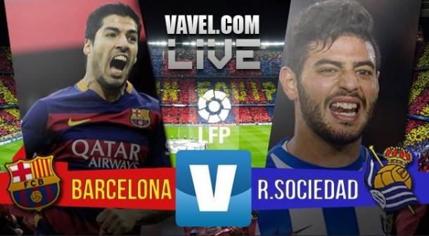 Resultado FC Barcelona 4-0 Real Sociedad en liga 2015: Fiesta del tridente